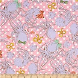 Seven Islands Octopus Canvas Pink