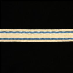 5/8'' Woven Ribbon Stripes Periwinkle