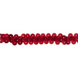 3/8'' Stretch Metallic Sequin Trim Red