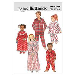Butterick Children'/Girls'/Boys' Nightgown, Top and Pants Pattern