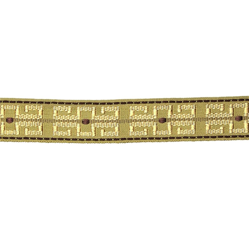 "Decorative Trim 1 1/2"" Greek Key Braid Sage/Chocolate"
