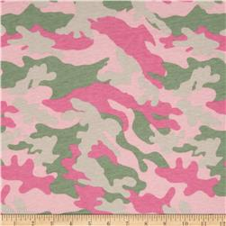 T-Shirt Jersey Knit Camo Hot Pink/Light Pink/Wild Wasabi