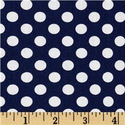 Kaufman Spot On Medium Dot Navy
