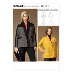 Butterick Misses'/Women's Jacket Pattern B6110 Size MIS