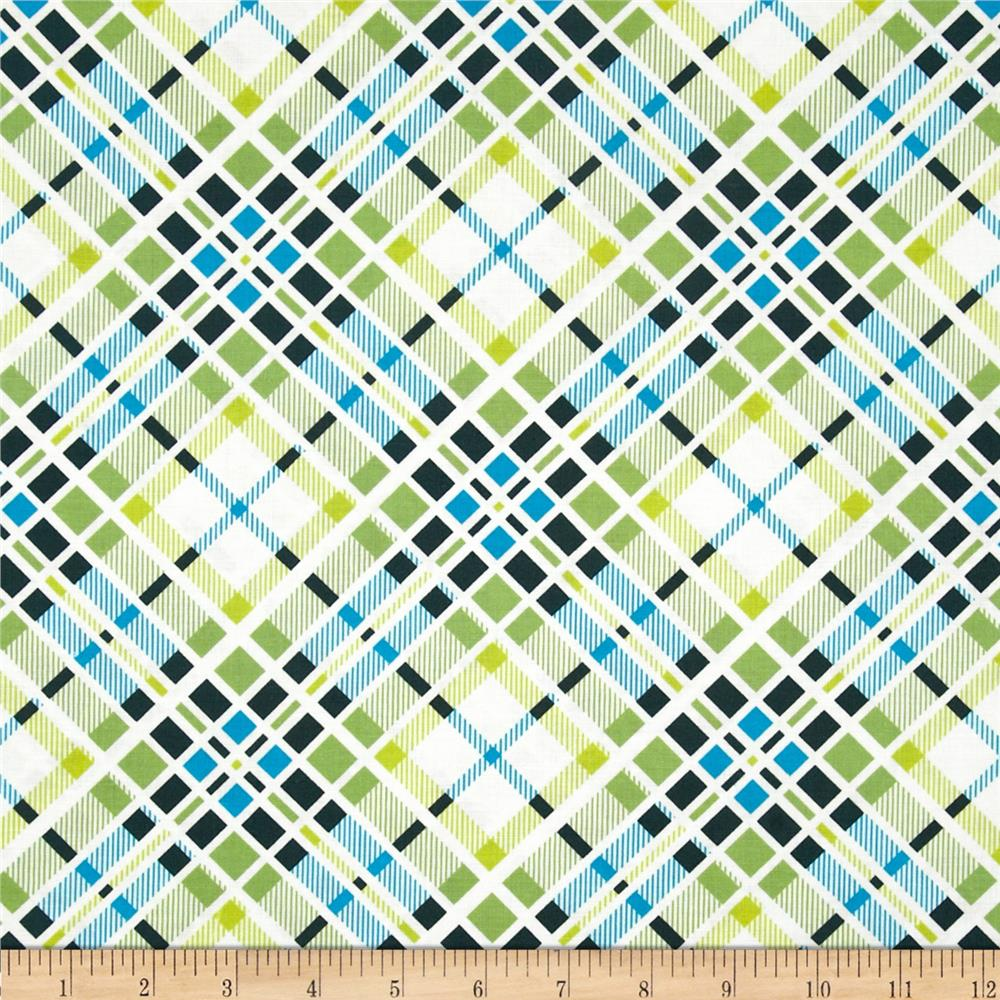 Florence Plaid Malac Lime