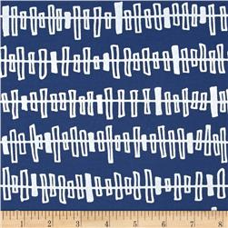Kaufman Blueberry Park Zipper Stripe Cadet