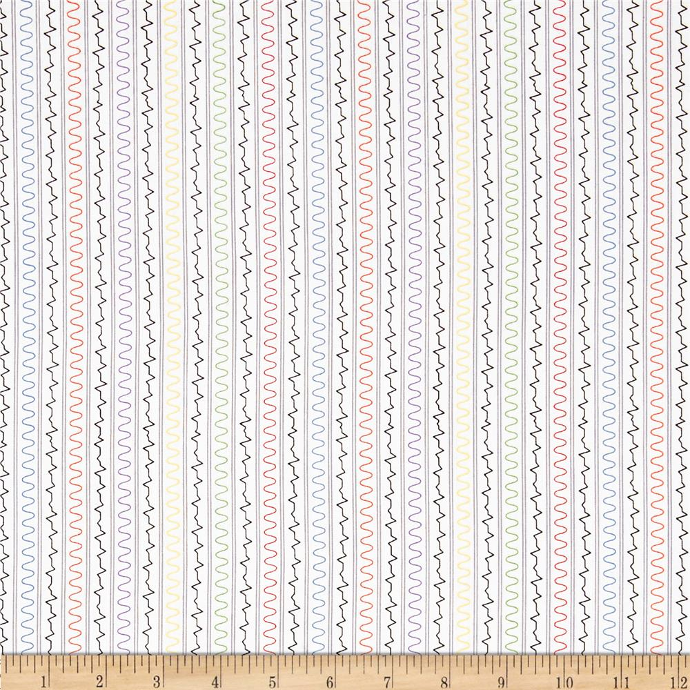 Mission space squiggle stripe white discount designer for Space mission fabric