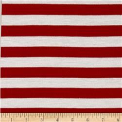 Jersey Knit Stripes Rust/Ivory