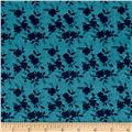 Sweet Florals Shadow Flower Navy