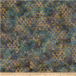 Island Batik Tree Blue/Green/Gold