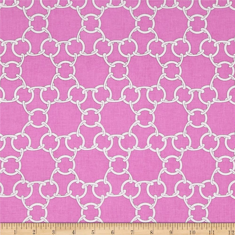 Michael Miller Cynthia Rowley Paintbox Chain Link Pink