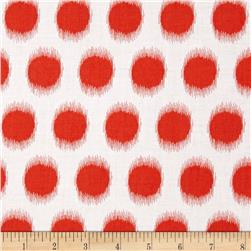 Butterfly Garden Ikat Dot Red