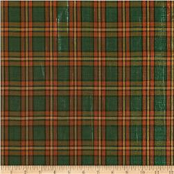 Holiday Blitz Large Plaid Green/Rust