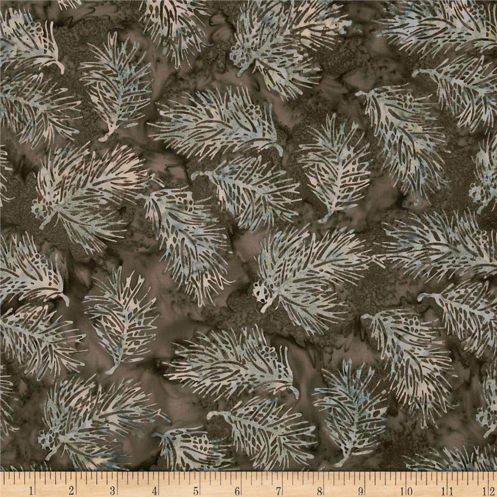 Bali Batiks Pine Leaves Chestnut