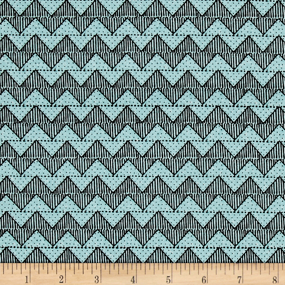 Tidings Of Great Joy Block Chevron Blue Fabric by Quilting Treasures in USA