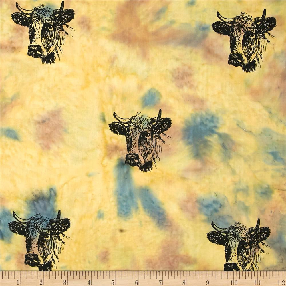 Indian Batik Animal Planet Steer Natural