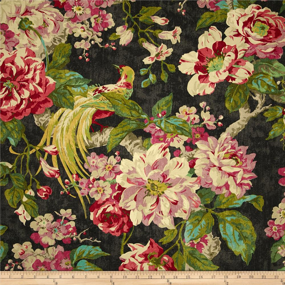 Waverly Floral Engagement Twill Nightfall Fabric By The Yard