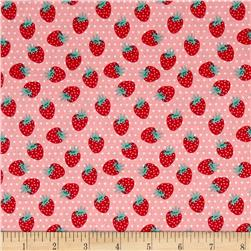 Penny Rose Shabby Strawberry Berries Pink
