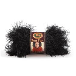 Lion Brand Fun Fur Yarn (153) Black