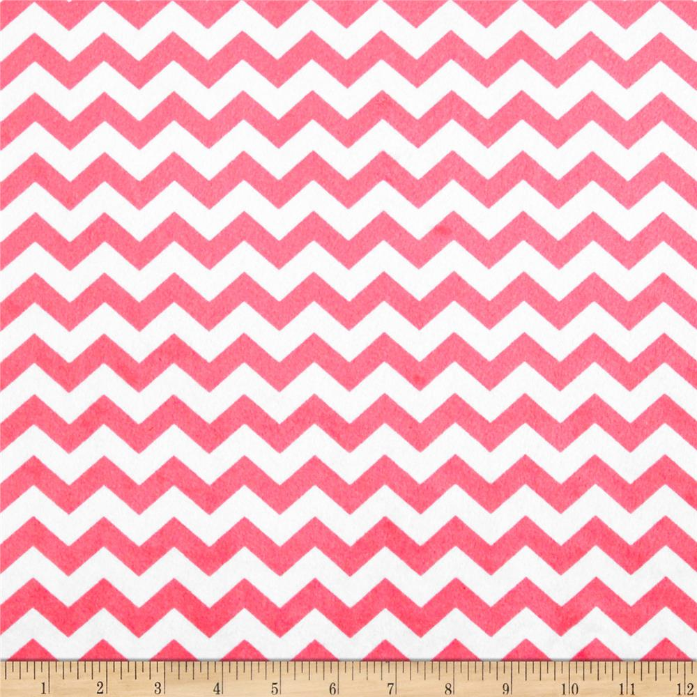 Minky Hytail Chevron Neon Light Pink