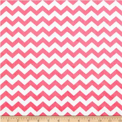 Minky Hytail Chevron Neon Light Pink Fabric
