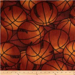 Packed Basketballs Fleece Orange