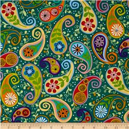 Cutting Garden Paisley Teal