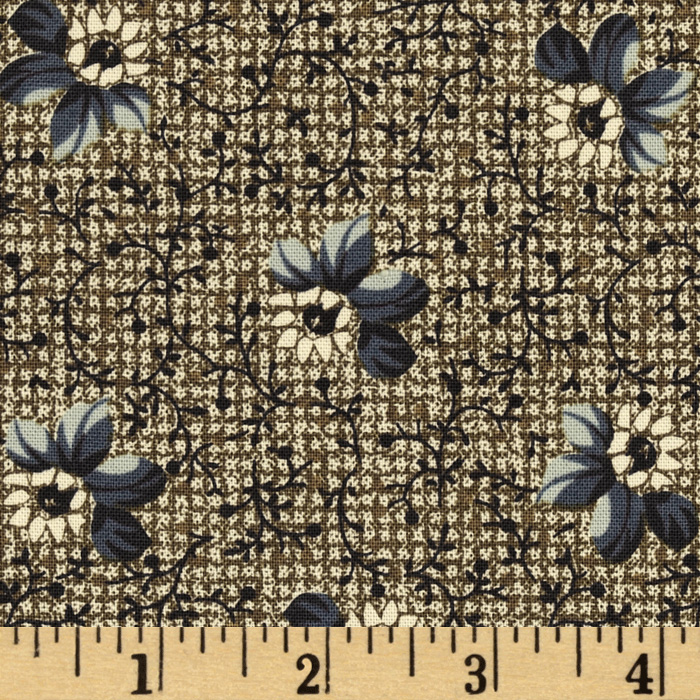 Townhouse Gardens Tossed Flower Sage Fabric