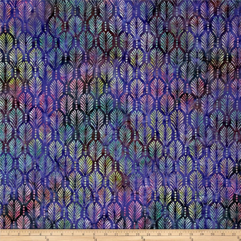Wilmington Batik Palm Texture Purple/Dark Green