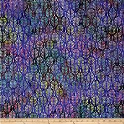 Batavian Batik Palm Texture Purple/Dark Green