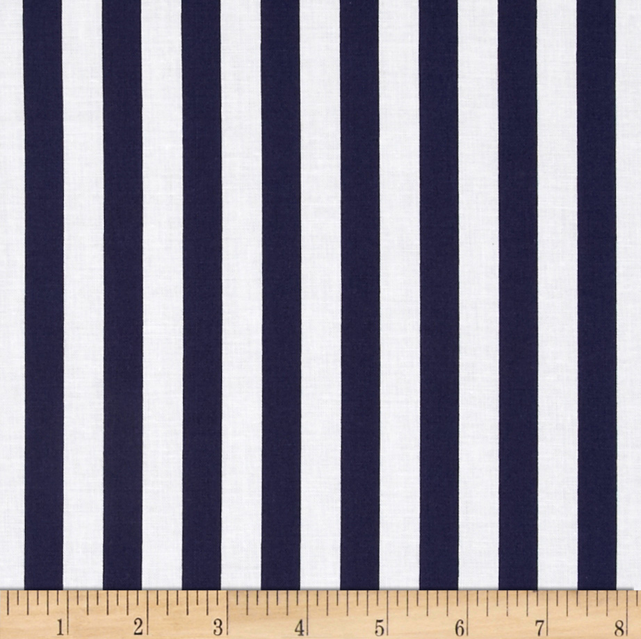 Riley Blake 1/2'' Stripe Navy Fabric