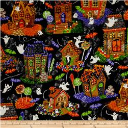 Spooky Snacks Halloween Gingerbread Houses Midnight