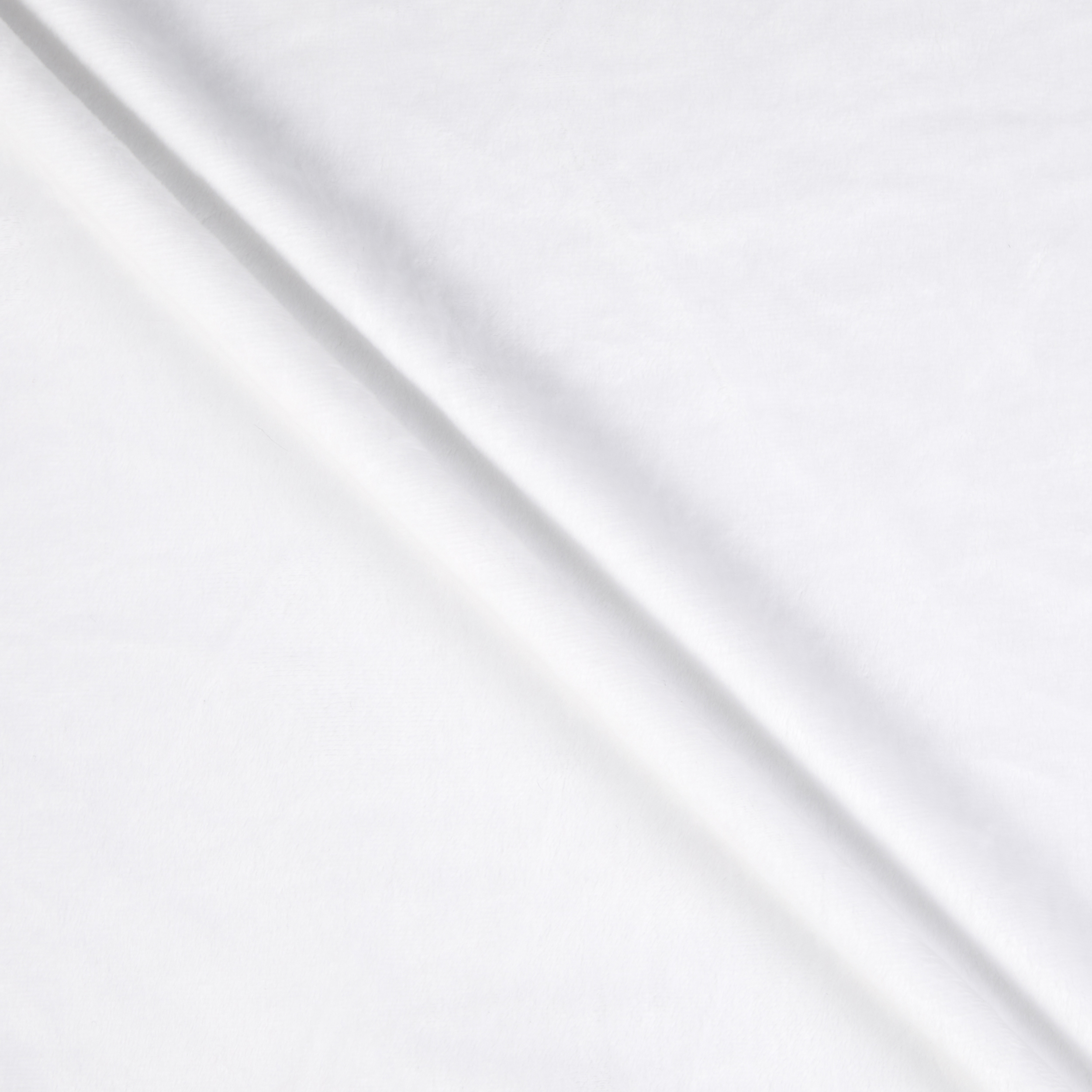 Shannon Minky Solid Cuddle 3 White Fabric