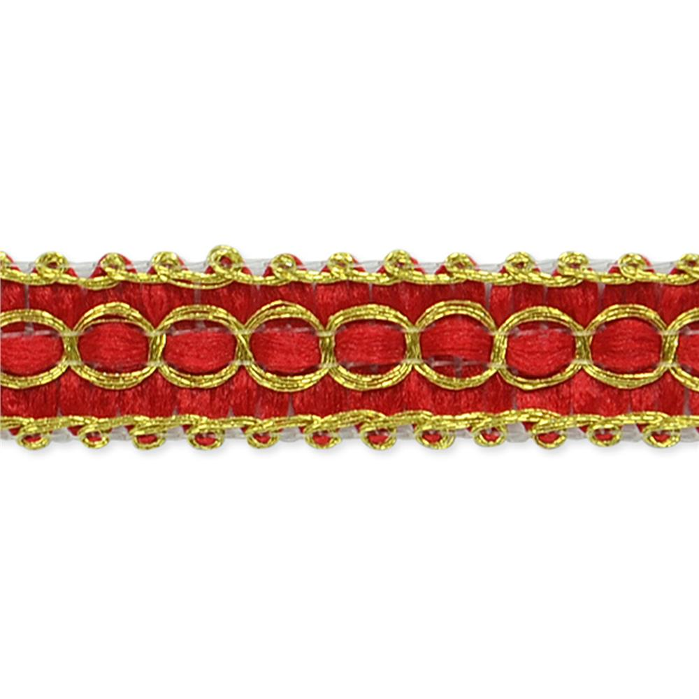 "1/2"" Novella Woven Braid Trim Roll Red"