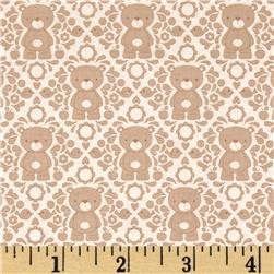 Riley Blake Teddy Bear's Picnic Teddy Damask Brown