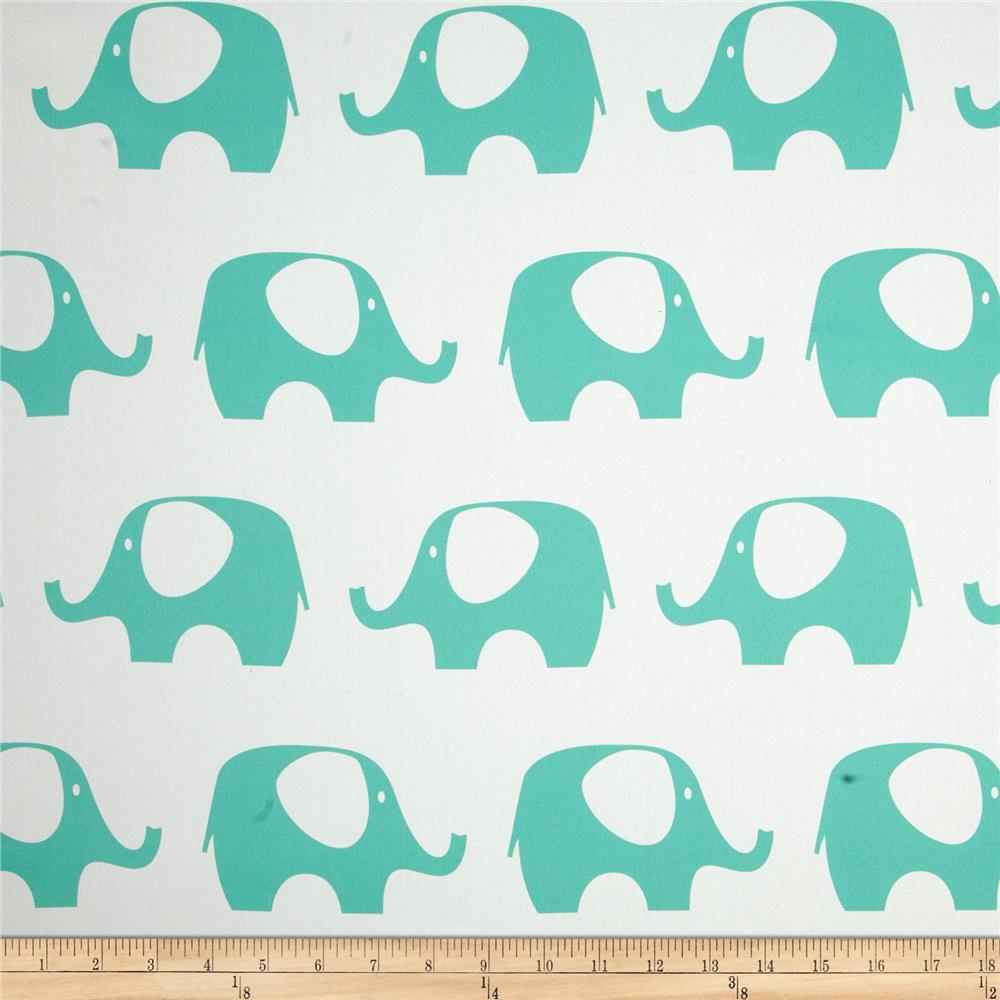 RCA Elephant Blackout Drapery Fabric Jade