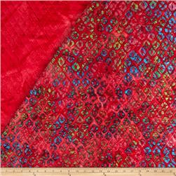 Indian Batik Double Face Quilted Diamond Pink
