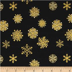 Magical Moments Gold Metallic Snowflakes Gray