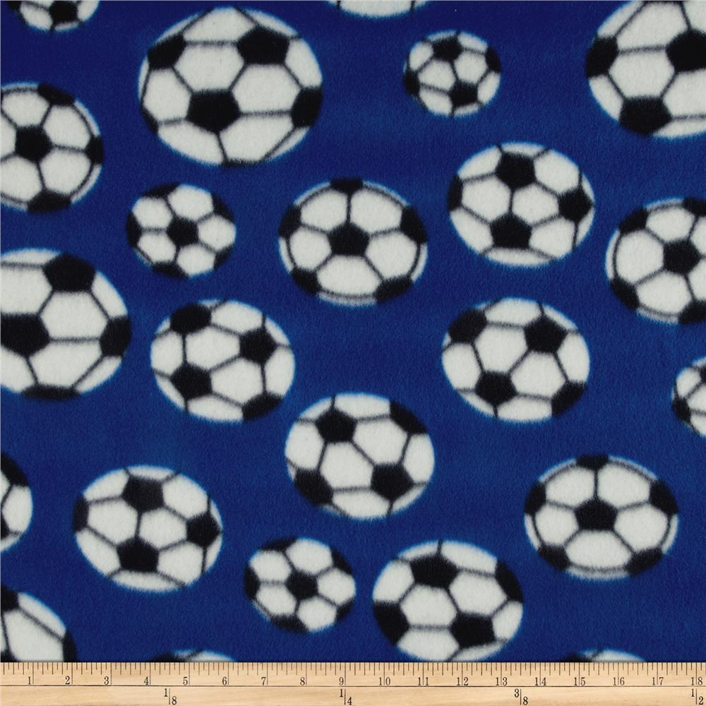 Printed Fleece Soccer Royal