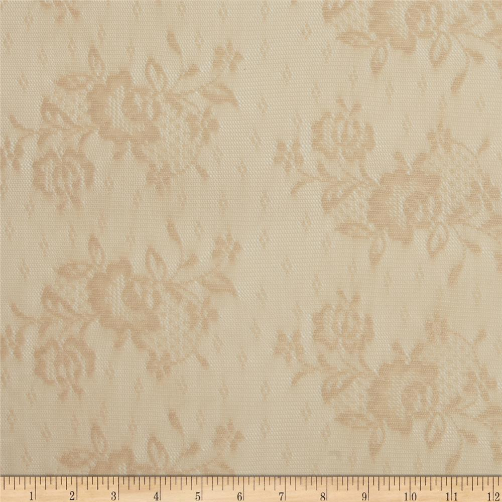Stretch Floral Lace Cream