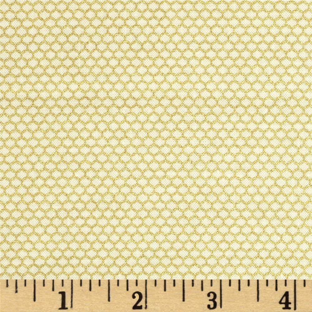 Metallic Lace Mesh Metallic Ivory/Gold