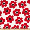 "Kaufman 108"" Wide Quilt Back Remix Flowers Tomato"