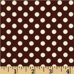 Riley Blake LeCreme Small Dot Brown