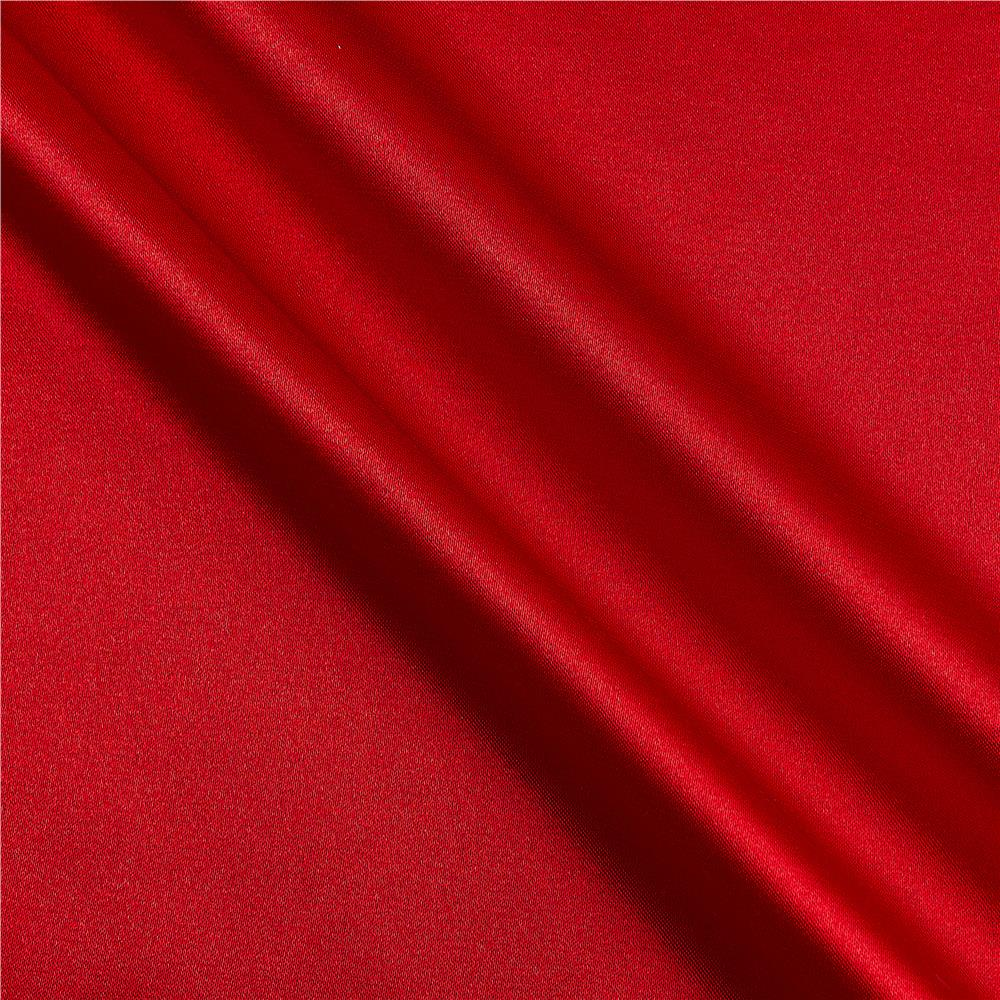 Stretch Charmeuse Satin Red Fabric By The Yard