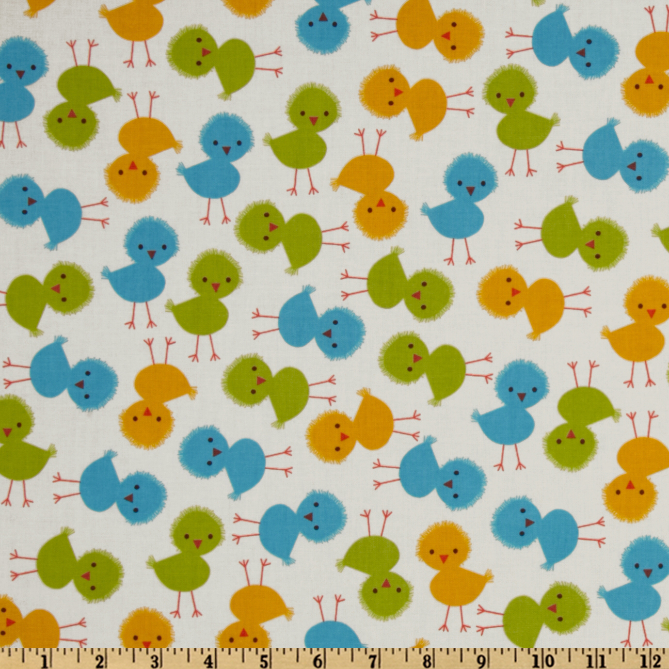 Urban zoologie baby chicks spring discount designer for Cheap baby fabric