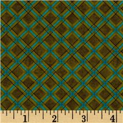 Kitty Kat Kapers Plaid Green