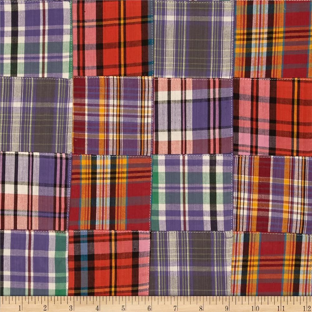 Kaufman Nantucket Patchwork Plaid Sunrise