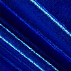Polyester Spandex Lame Knit Royal Blue