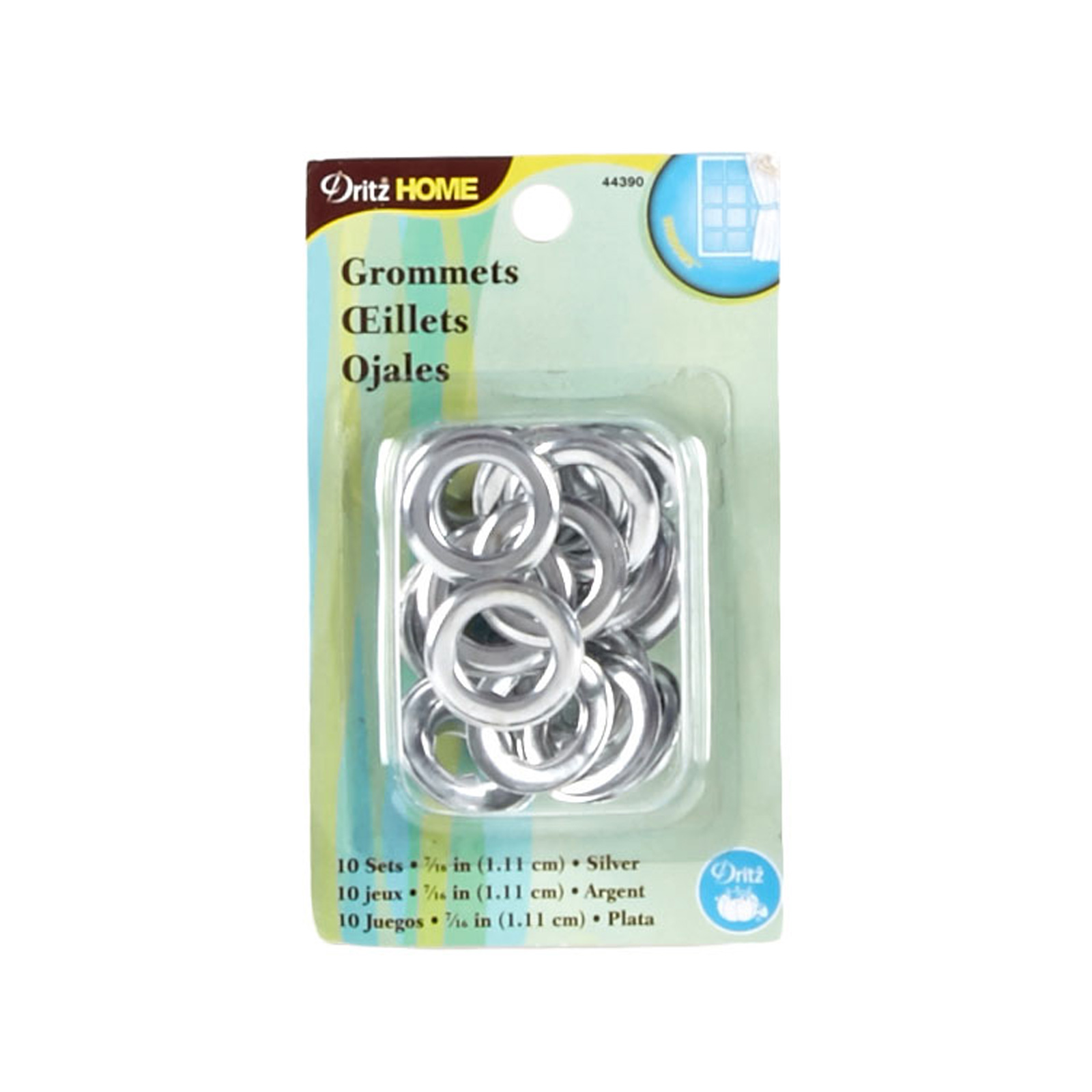 Curtain Grommets 7/16'' Silver by Notions Marketing in USA