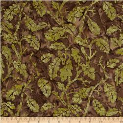 Moda Paint Box Batiks Oak Leaf Brown
